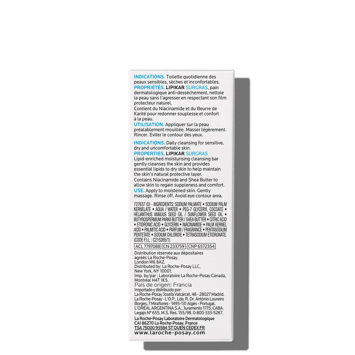La Roche Posay Body Cleanser Lipikar Pain Surgras 150g 3433422404533 S