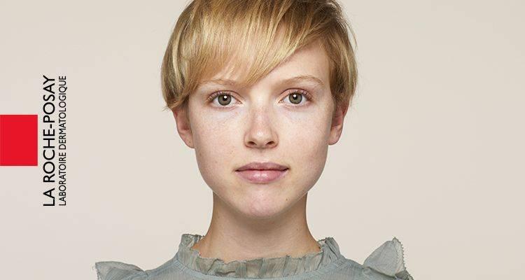 La Roche Posay Sensitive Toleriane Make up Ivory Audrey Before